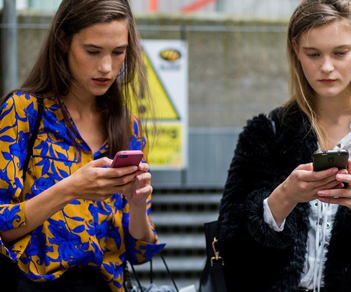 phone screen leading to skin damage