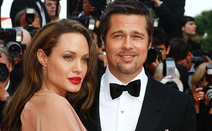 Brad Pitt and Angelina Jolie.