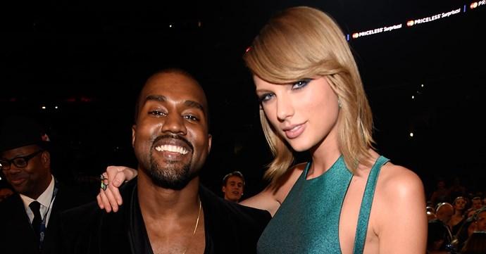 Kanye West Taylor Swift at 2015 Grammys
