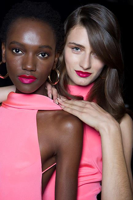 """Give your nude nails a <strong>Cushnie et Ochs </strong>makeover this spring. Apply three coats of soft apricot and, when dry, paint on asymmetrical white tips. It was described as """"minimal, yet high impact"""" backstage. Spring's staple nail design."""