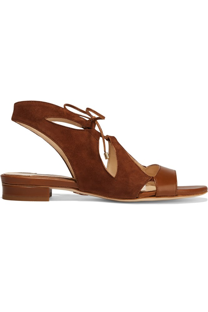 "<a href=""https://www.theoutnet.com/en-AU/Shop/Product/Chelsea-Paris/Halil-cutout-suede-sandals/768371"">Sandals, $188, Chelsea Paris at theoutnet.com</a>"