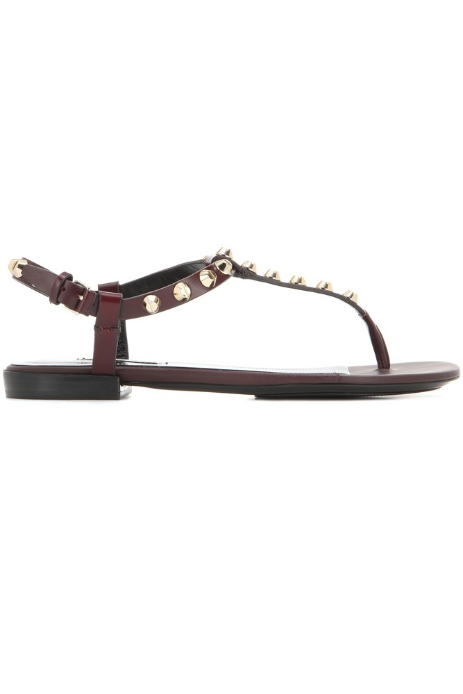 "<a href=""http://www.mytheresa.com/en-au/classic-screw-studded-leather-sandals-407929.html?catref=category"">Sandals, $695, Balenciaga at mytheresa.com</a>"