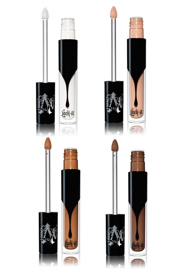 """<p> <a href=""""http://www.katvondbeauty.com/complexion/concealer/lock-it-concealer-cr%C3%A8me/20012.html?dwvar_20012_color=2013#start=1"""">Kat Von D Lock-It Concealer Creme</a><p> <p> Kat Von D's highly-anticipated concealer follows the release of her Lock-It foundation, which quickly became a cult fave."""