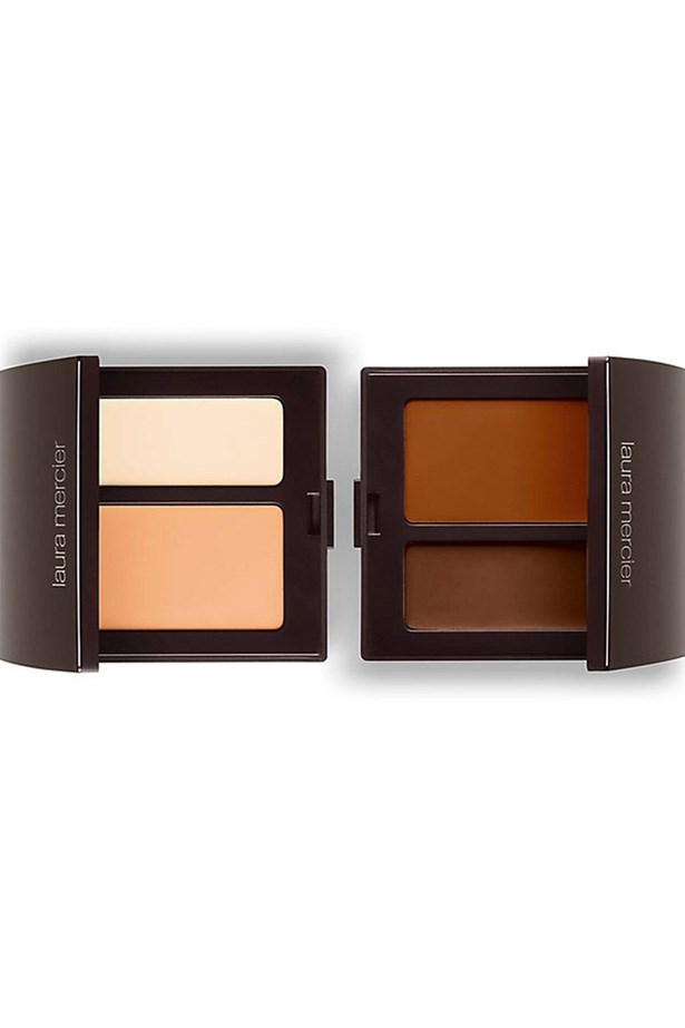 """<p> <a href=""""http://www.lauramercier.com/cover-with-concealer/secret-camouflage-12342481.html"""">Laura Mercier Secret Camouflage concealer</a><p> <p> One of the brand's most famed products, the Secret Camouflage concealer kit comes with two shades that let you mix the perfect shade for your blemish or dark circle."""
