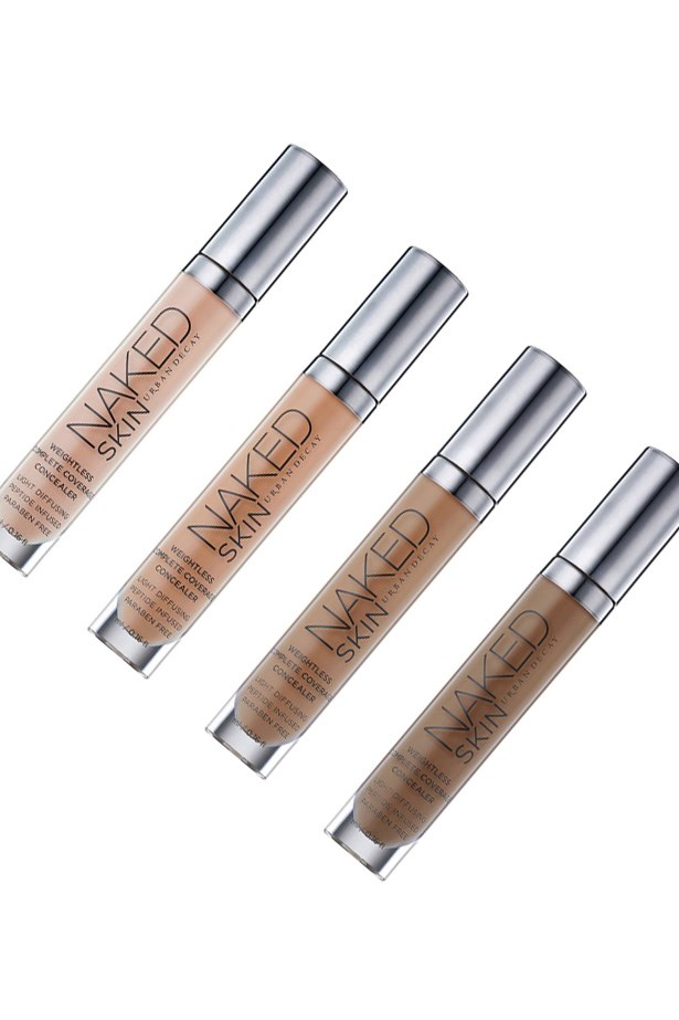 """<p> <a href=""""http://mecca.com.au/urban-decay/naked-skin-weightless-complete-coverage-concealer/V-021165.html"""">Urban Decay Naked Skin Weightless Complete Coverage Concealer</a><p> <p> Lightweight and hydrating, this concealer ticks all the boxes and is loved by beauty bloggers and makeup artists alike."""