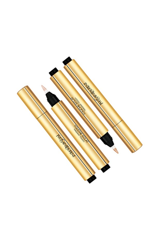 """<p> <a href=""""https://yslbeauty.com/en-AU/make-up/complexion/enhancers/touche-eclat"""">Yves Saint Laurent Touche Éclat</a><p> <p> A hybrid cross between a concealer and a highlighter, this click-pen concealer delivers coverage for blemishes and lightness for the face."""