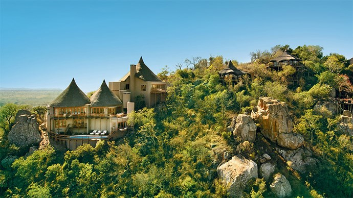 "<p> <a href=""http://www.virginlimitededition.com/en/ulusaba"">Ulusaba Private Game Reserve, South Africa</a><p> <p> Sir Richard Bransons 'Safari Lodge' is located in the Drakensberg Mountains in South Africa, a true venue for adventurous types. Safaris are a must while you're here and well known Kruger National Park is situated nearby. On top of the fact you might get married next to a jaguar, the luxury rooms include private plunge pools and in some 360 views of the African plains. An animal education and a wedding all in one hit."