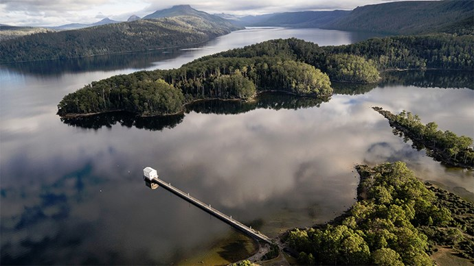 "<p> <a href=""http://www.pumphousepoint.com.au/"">Pumphouse Point, Lake St. Clair, Tasmania, Australia</a><p> <p> The converted Pumphouse has been expertly and beautifully redesigned and refurbished by local Australian architects and features beautiful interiors so your whole bridal party can stay with you in close proximity. You can also choose to arrive by helicopter, plane or car. (We vote sea plane, more dramatic and you'll get to see the amazing views surround Lake St Clair.)"