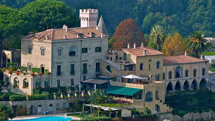 "<p> <a href=""http://www.villacimbrone.com/en/"">Villa Cimbrone,  Ravello SA, Italy</a><p> <p> This 11th century Manor overlooks Mediterranean Sea and is surrounded by an expansive garden complete with incredibly dramatic views. The terrace, Terrazza dell'Infinito, is lined by marble works that are said to be older than the manor itself."