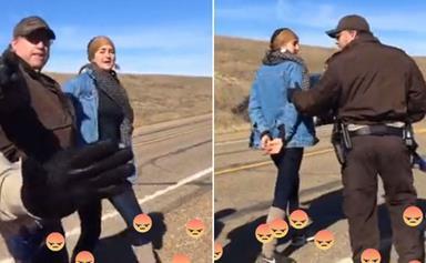 "Shailene Woodley Arrested During Facebook Live Stream For ""Trespassing"" During Peaceful Protest"