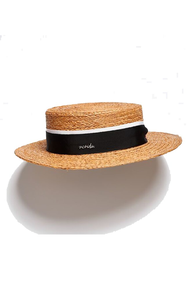 """<a href=""""https://www.neridawinter.com/product/nadia-4/"""">Hat, $175, Nerida Winter</a>"""