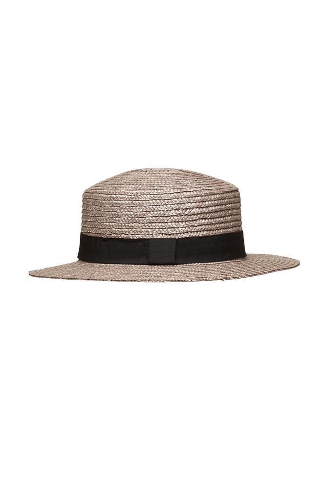 """<a href=""""http://www.sportsgirl.com.au/accessories/hats/grey-boater-grey-all"""">Hat, $14.98, Sportsgirl</a>"""