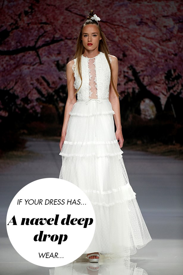 <p> If your dress has a down-to-<em>there</em> plunge...