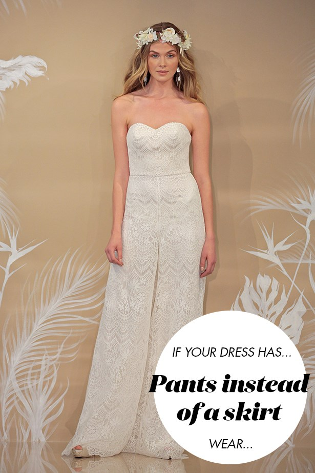 <p> If your 'dress' is more like a suit or a jumpsuit...