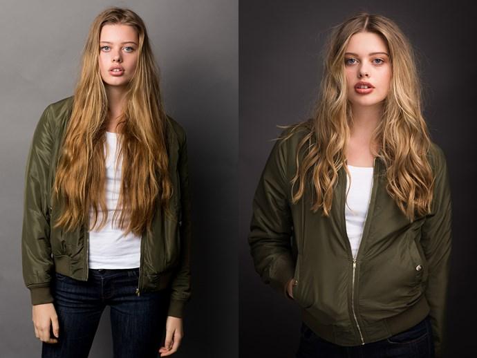 <p>Linnea's long hair lost a bit of length.