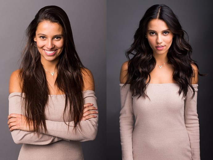 <p>Vitoria's hair got shorter and a little darker overall.