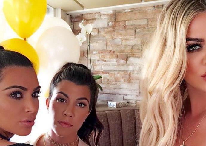 Khloe Kardashian selfie.