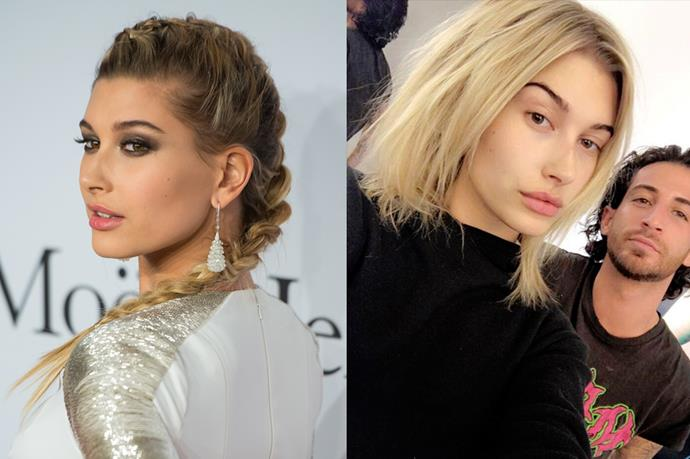 <strong>Hailey Baldwin</strong> <br><br>She's been straying on the side of 'bronde' lately, but Hailey has recently come back over to the light side, debuting her new blonde shade on Instagram.