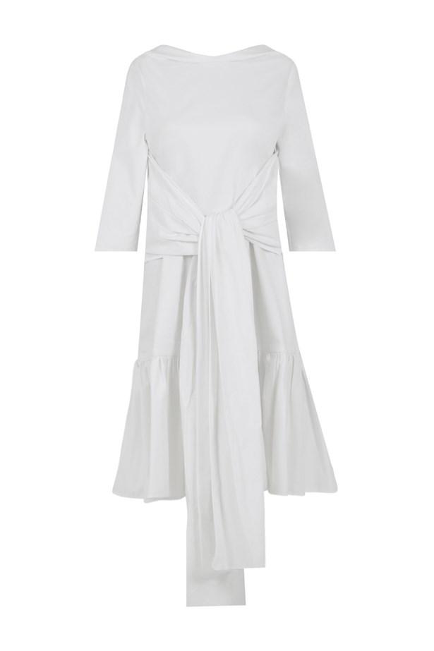 "<p> <a href=""http://www.parlourx.com/styles/dresses/accomplish-dress-white.html"">Dress, $1095, Maticevski at parlourx.com</a>"