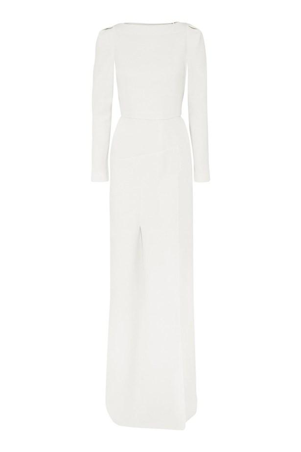 """<p> <a href=""""https://www.net-a-porter.com/au/en/product/410880/Roland_Mouret/ella-wool-crepe-gown"""">Dress, $4584, Roland Mouret at net-a-porter.com </a>"""