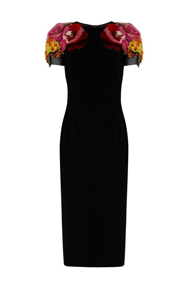 "<p> <a href=""http://www.matchesfashion.com/products/Dolce-%26-Gabbana-Flower-appliqu%C3%A9-midi-dress-1065943"">Dress, $3372, Dolce & Gabbana at matchesfashion.com</a>"