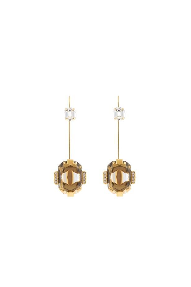 "<p> <a href=""http://www.matchesfashion.com/au/products/Marni-Rhinestone-hook-earrings-1057001"">Earrings, $341, Marni at matchesfashion.com</a>"