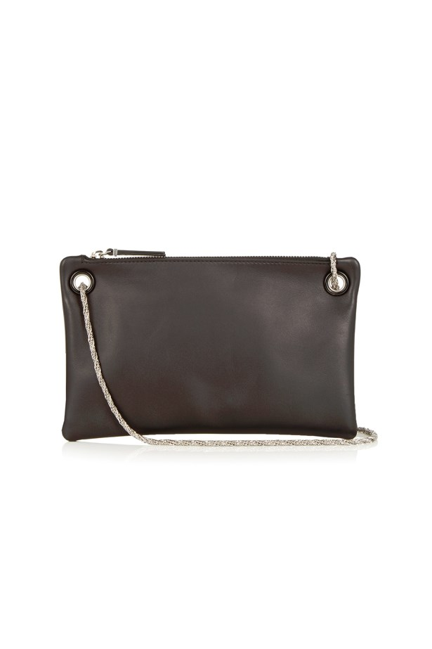 """<p> <a href=""""http://www.matchesfashion.com/au/products/The-Row-Happy-Hour-7-leather-clutch-1057830"""">Bag, $887, The Row at matchesfashion.com</a>"""