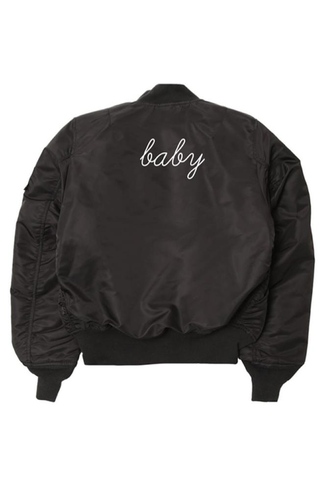 "<strong>Personalised jacket</strong><br><br>  These super-cool bombers can be customised with anything you like, so get creative. <br><br> <a href=""https://www.danielleguiziony.com/women/front-back-personalized-embroidered-bomber-jacket"">Jacket, approx. $277, Danielle Giuzio NY</a>"