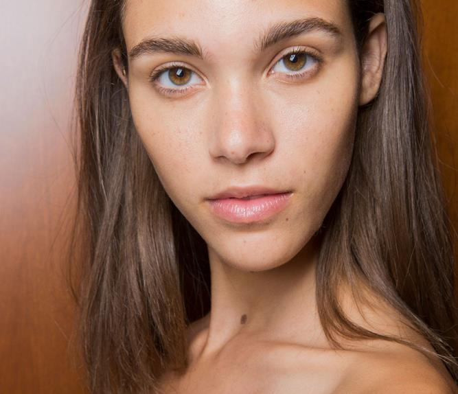 model backstage at oscar de la renta runway show