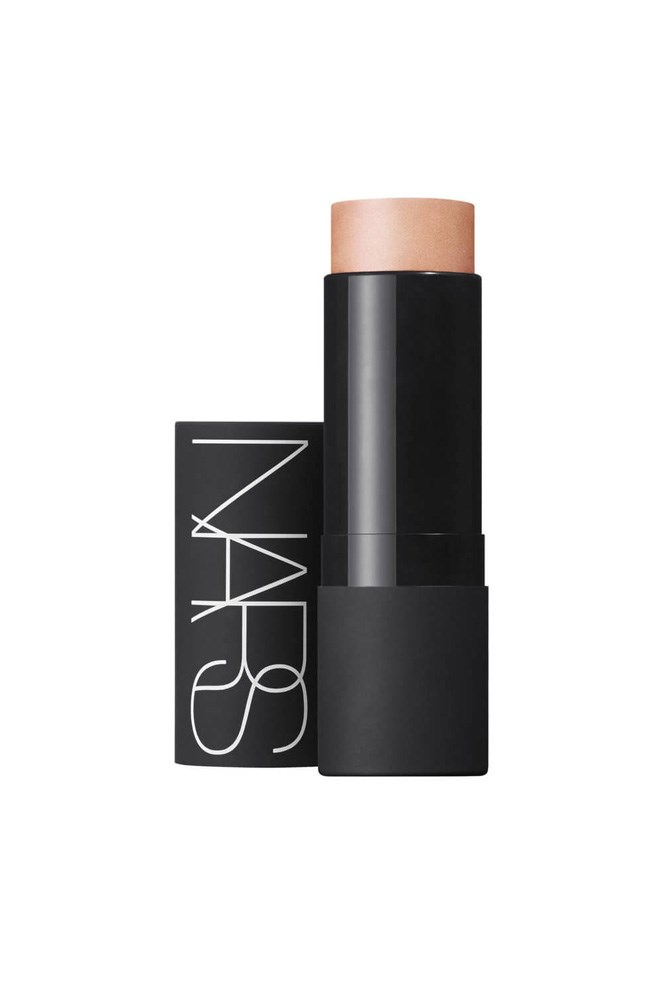 """Use this multi-tasker on cheekbones, eyelids and dotted in the bow of your lip for an effortless-looking glow.<br><br> <a href=""""http://mecca.com.au/nars/the-multiple/V-000462.html?cgpath=makeup-complexion-illuminator"""">The Multiple in 'Hot Sand', $57, Nars</a>"""