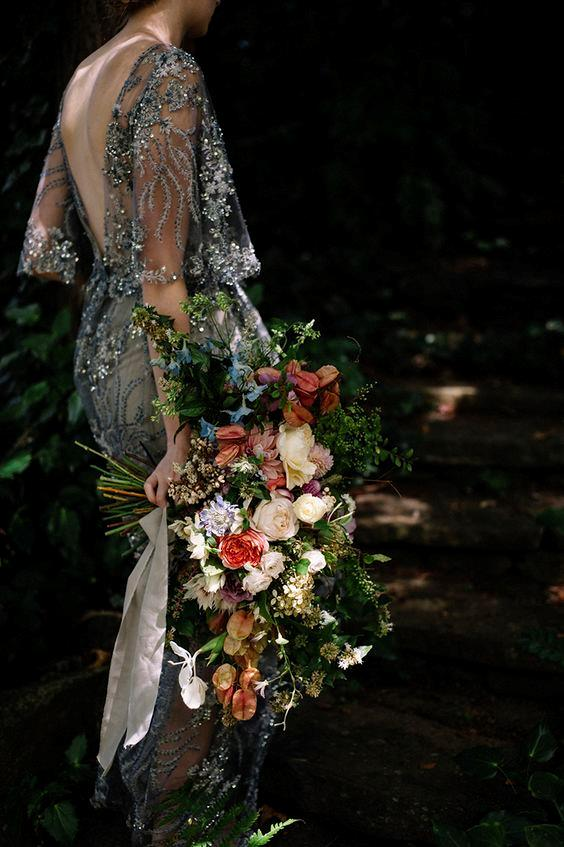 "<P> <em>Asymmetric</em><p> <p> The days of perfectly domed and sweetly shaped bouquets are over. The latest wedding bouquet trend is all about getting wild, untamed and free. Mixing and matching competing flowers, large foliage and wild branches creates a whimsy effect perfect for the relaxed bride.<p> <p> Image via <a href=""https://au.pinterest.com/pin/Ad_POmfGcTLVa6Caw-vRw7UtRXmWxP-DDRL2R19i2U7phvXMQy5F5RM/"">Pinterest</a>."