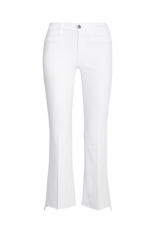"Jeans, $327, <a href=""https://www.net-a-porter.com/au/en/product/774680/Mih_Jeans/marrakesh-cropped-mid-rise-flared-jeans"">M.I.H. Jeans at net-a-porter.com</a>."