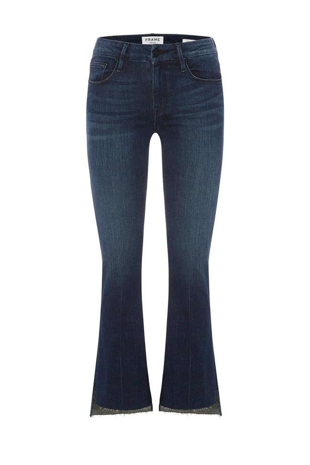 "Jeans, $390, <a href=""https://www.theundone.com/collections/denim/products/frame-jeans-topsail"">Frame Denim at theundone.com</a>."