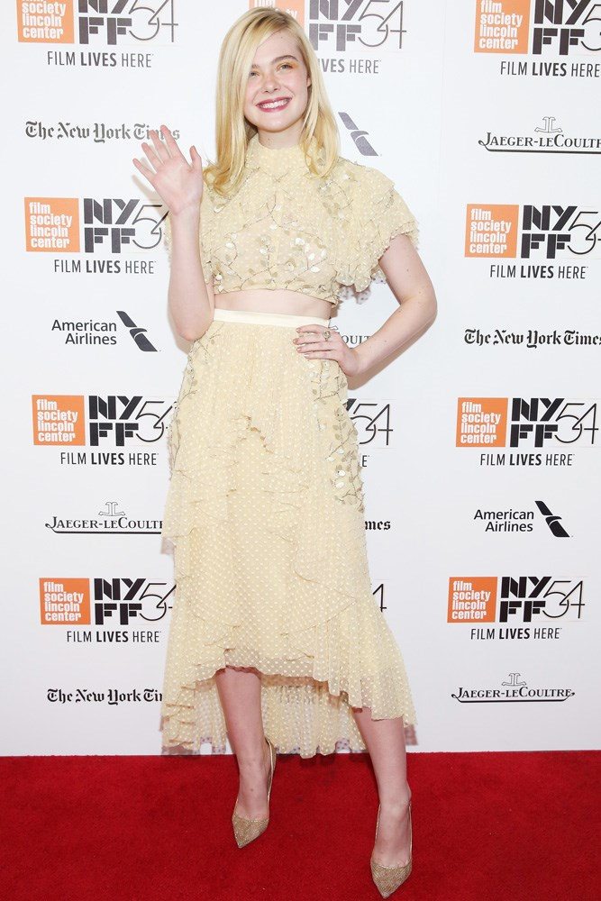 Elle Fanning hit the red carpet in Rodarte, for the New York premiere of her upcoming film<em> 20th Century Women</em>.