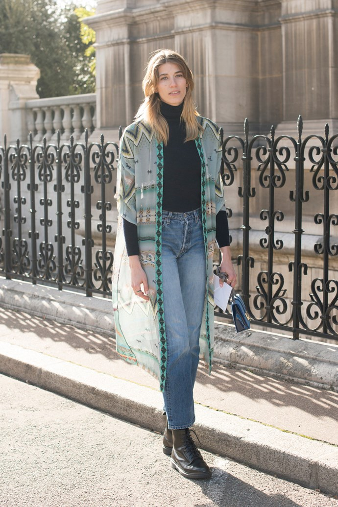 Veronika Heilbrunner in an Etro jacket.