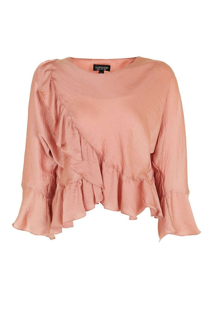 "<a href=""http://www.topshop.com/en/tsuk/product/new-in-this-week-2169932/new-in-this-week-493/petite-ruffle-wrap-blouse-5943075?bi=0&ps=20"">Top, approx. $55, Topshop</a>"