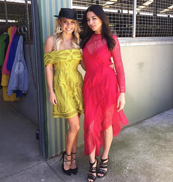 """<p>This is how Elyse Knowles and Jessica Gomes were styled for a spring racing-themed shoot. <p><a href=""""https://www.instagram.com/p/BLkDDfsADra/"""">Instagram.com/elyseknowlzy</a>"""