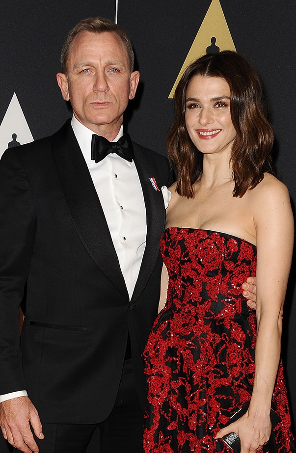 <p><strong>Rachel Weisz and Daniel Craig</strong> <p>It usually takes an event as big as the Oscars to get Rachel and Daniel on the red carpet together, but she has accompanied him to the premieres of some of his films.