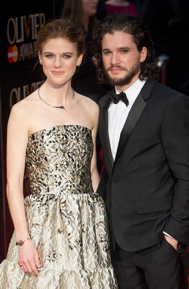 <p><strong>Kit Harington and Rose Leslie</strong> <p>The actors, who met and fell in love on the set of <em>Game of Thrones</em>, made their relationship red carpet official when they attended the Olivier Awards in London together in April 2016.