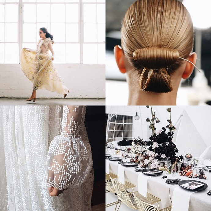 "<a href=""https://www.instagram.com/loho_bride/?hl=en"">@loho_bride</a> <br><br> Self-described as ""curated bridal wear for the woman who transcends convention"", Loho Bride has two stores on the U.S. east coast, but its dreamy Instagram can be appreciated from afar."