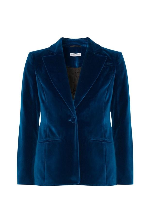 "<a href=""https://www.net-a-porter.com/au/en/product/747631/altuzarra/acacia-stretch-velvet-blazer"">Blazer, $2045, Altuzarra at net-a-porter.com.</a>"