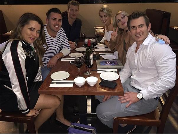 """<p>Is this the ultimate cross-season <em>Bachelor</em>/<em>Bachelorette</em> meet-up? It's a meal with Heather Maltman from <em>The Bachelor</em> 2015, Davey Lloyd and Dave Billsborrow from <em>The Bachelorette</em> 2015, and Richie Strahan, Alex Nation and Keira Maguire from <em>The Bachelor</em> 2016. <p><a href=""""https://www.instagram.com/p/BLcNQpcAyDH/"""">Instagram.com/dave_billsborrow</a>"""