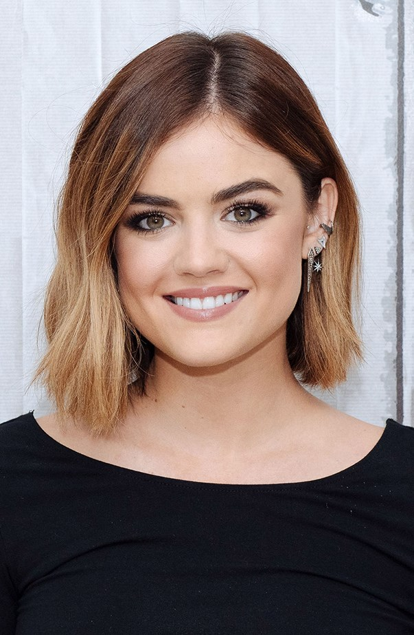 <p>Look at that perfect balayage—a great way to do ombré on bob-length hair.