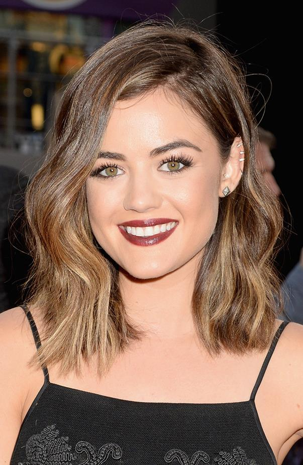 <p>This is one of Lucy's lighter looks. Still brunette, very cute.