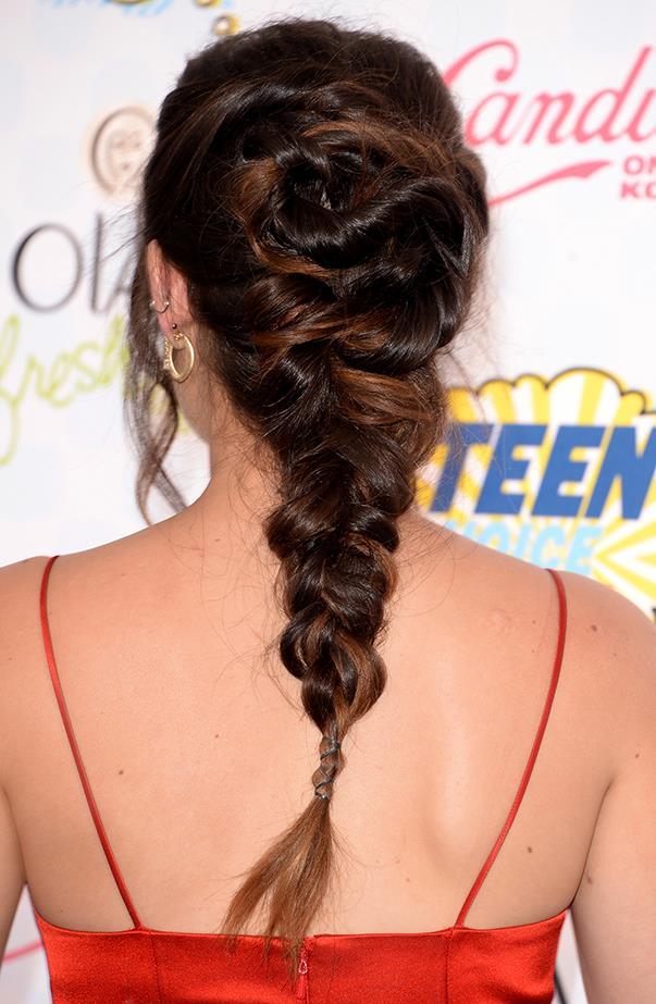 <p>It's a really cool, detailed and loose braid at the back.