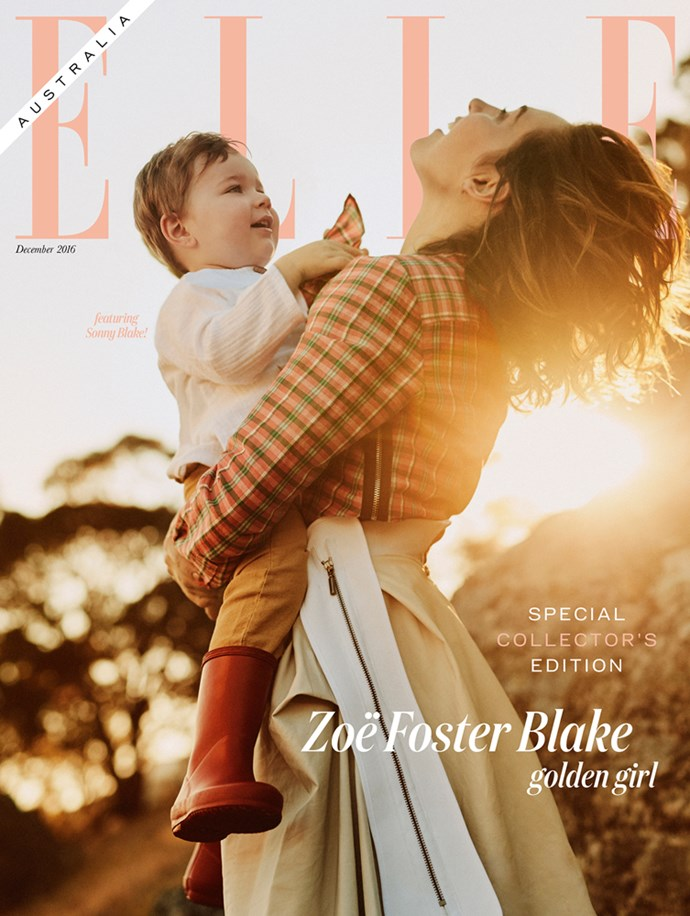 zoe foster blake and sonny blake on the special edition cover of elle australia