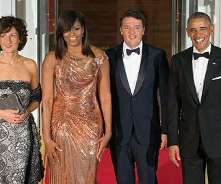 Michelle Obama Atelier Versace Dress State Dinner