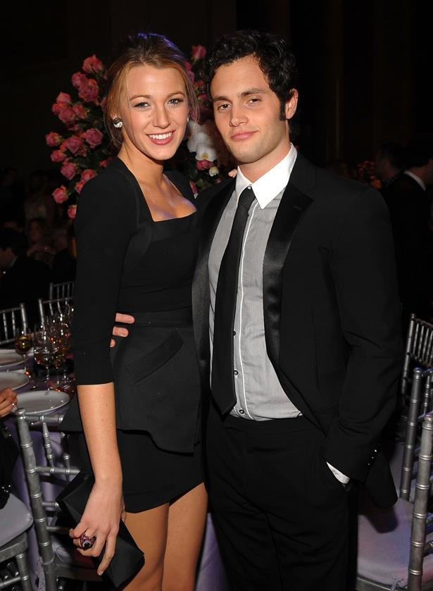 <p> Blake Lively and Penn Badgley <p> Meeting as Serena van der Woodsen and Dan Humphries on <em>Gossip Girl</em>, Penn and Blake dated for three years before ending it whilst the filming of their show continued.