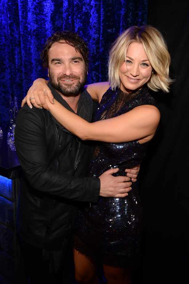 <p> Kaley Cuoco and Johnny Galecki <p> The two <em>Big Bang Theory</em> co-stars mimicked their on-screen romance by dating for the two years their characters did. Although they ended their relationship, Kaley and Johnny are reportedly on good terms.