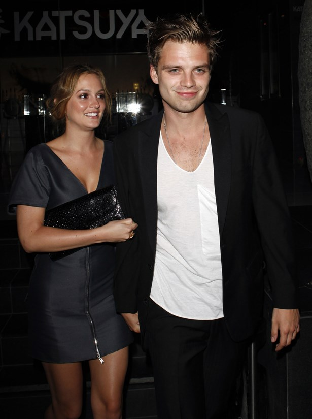 <p> Sebastian Stan and Leighton Meester <p> Sebastian and Leighton met on the set of their show <em>Gossip Girl</em>, where he played Carter Baizen and she played Blair Waldorf. They dated for two years before ending their relationship.